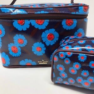 Kate Spade 2 Piece Toiletry Cosmetic Travel Set